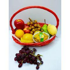 Wooden Red Basket